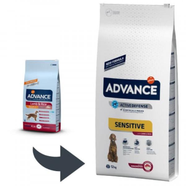 Advance Adult Dog Sensitive Lamb&Rice Храна за Кучета от Всички Породи Над 1 год. с Агнешко и Ориз