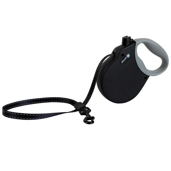 Alcott Adventure Retractable Leashes - Автоматичен Черен Повод за Кучета с Мека Дръжка Адвенчър