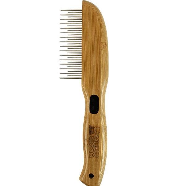 Alcott Bamboo Groom Rotating Pin Comb with 31 Rounded Pins - Бамбуков Гребен с Обли Въртящи се Зъбци
