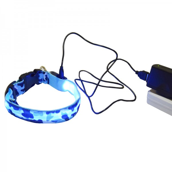 LED Light Collar Зареждащ се Светещ Нашийник Камуфлажна Разцветка