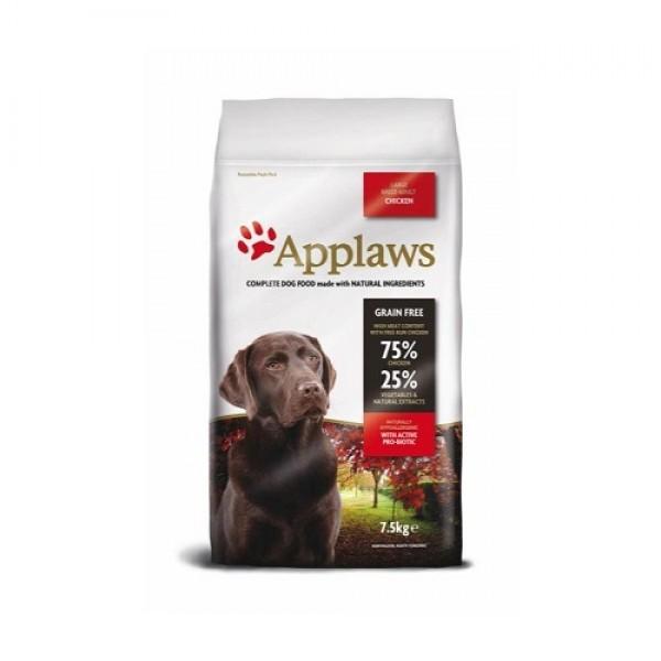 Applaws Adult Large Breed Chicken - Аплаус Суха Храна за Кучета от Едри породи, с 75% пиле