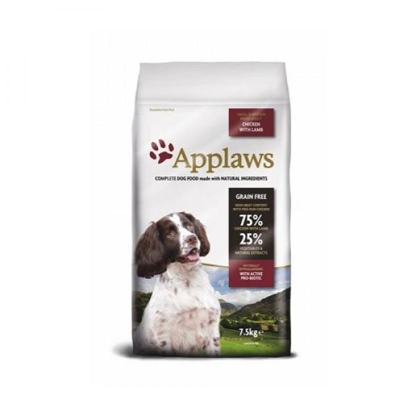Applaws Adult Small Medium Breed Chicken with Lamb - Суха Храна за Кучета от Малките и Средни Породи, 75% агне и пиле