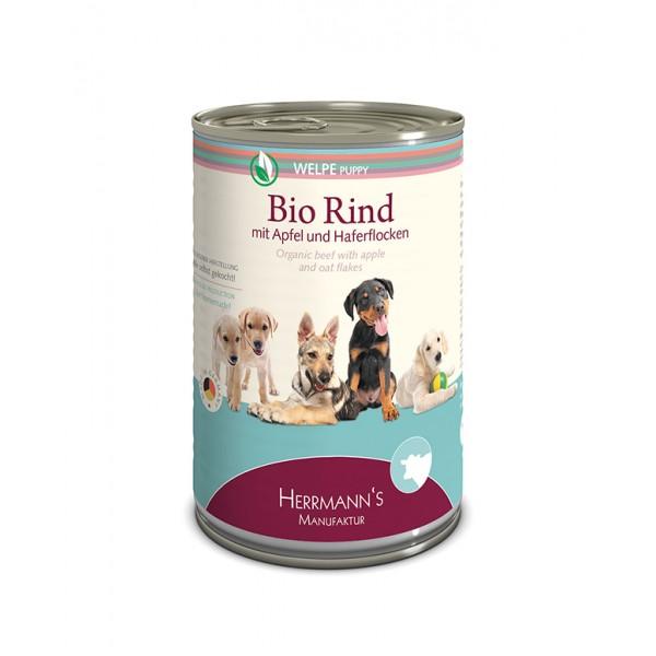 Herrmann's Bio Can Puppy Beef Био Храна за Кученца с телешко, ябълки и овес