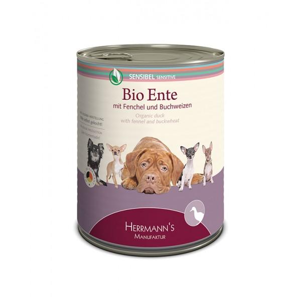 Herrmann's Bio Can SENSITIVE Био патешко месо с фенел и елда Чувствителни кучета