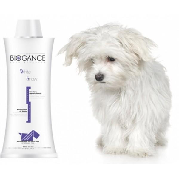 Biogance White Snow Shampoo - Шампоан за Кучета с Бяла Козина