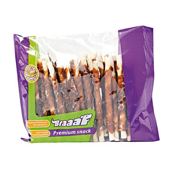 Braaaf Roll Duck Sticks Браф Солети за Кучета от Телешка Кожа с Патешко Месо