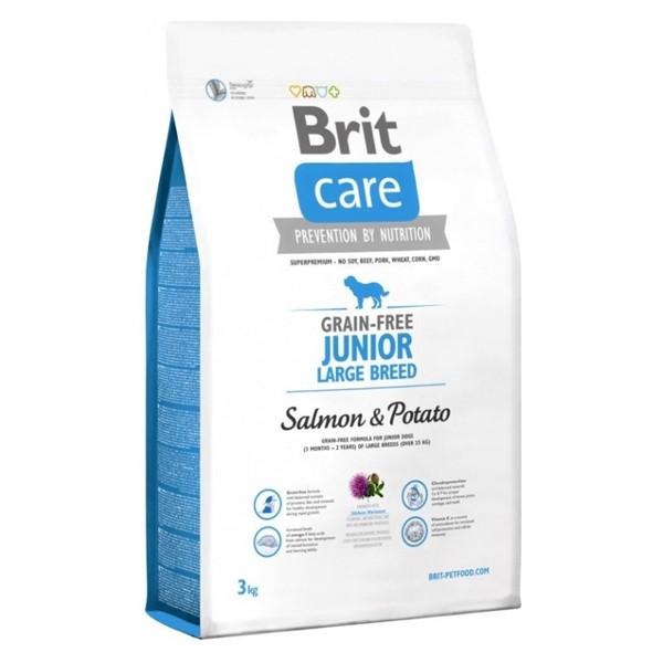 Brit Care Grain-free Junior Large Salmon & Potato -Брит Без Зърнена Храна за Млади Кучета от Едри Породи със Сьомга и Картофи