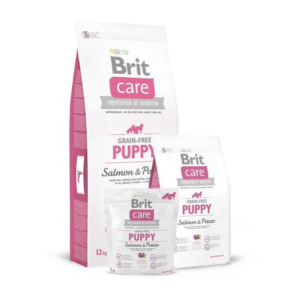 Brit Care Grain-free Salmon & Potato - Брит Без Зърнена Храна за Кученца от Всички Породи