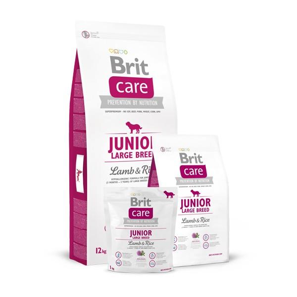 Brit Care Junior Large Breed - Брит Суха Храна за Подрастващи Кучета от Едри Породи с Агнешко и Ориз