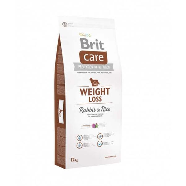 Brit Care Weight Loss Rabbit & Rice - Брит Храна за Кучета със Заешко Месо и Ориз. За Контрол на Теглото