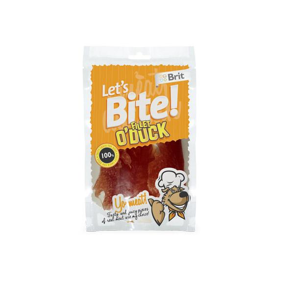 Brit Let's Bite Brit Care Duck Fillet - Brit Care Патешко Филе за Куче Комплект 3 бр.
