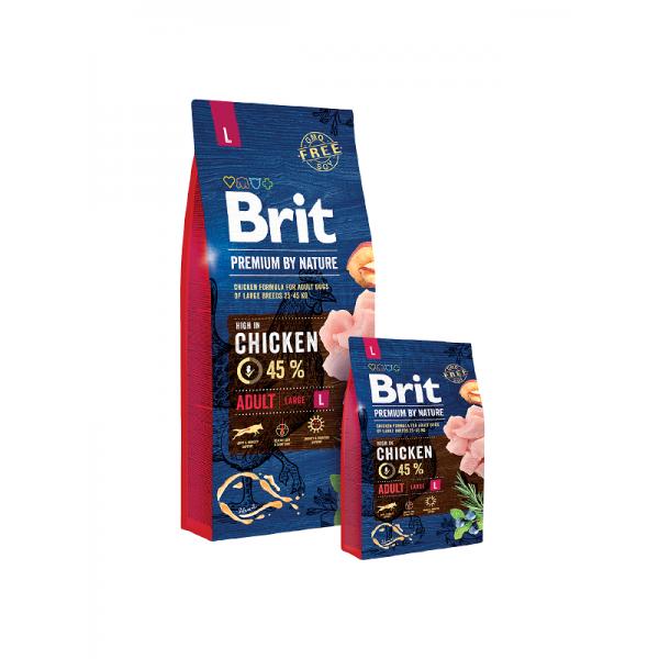 Brit Premium Adult L - Брит Премиум Храна за Пораснали Кучета от Големи Породи (25-45 кг.)
