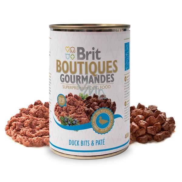 Brit Premium BOUTIQUES Gourmandes duck - Пълноценна храна хапки в пастет с патица
