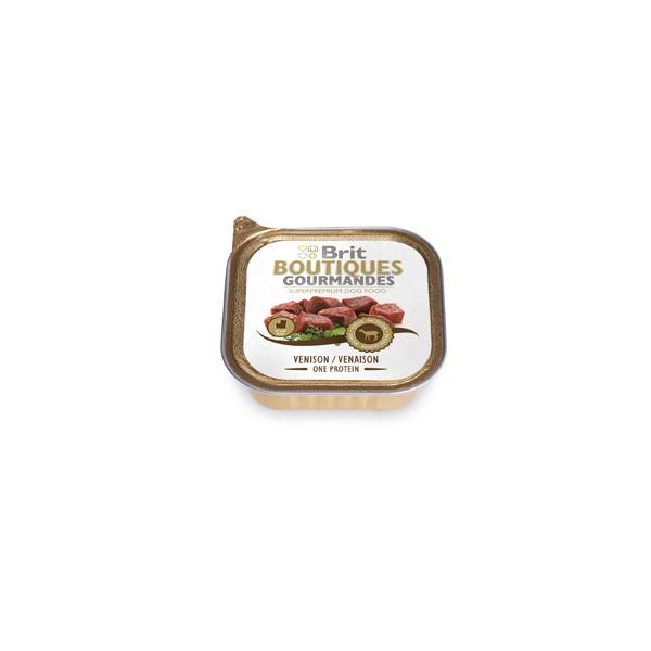 Brit Premium BOUTIQUES - пастет за малки породи кучета с еленско месо Комплект от 3 бр.