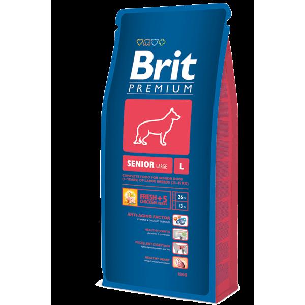 Brit Premium Senior L/XL - Брит Премиум Храна за Възрастни Кучета от Големи и Много Големи Породи (25-90кг.)