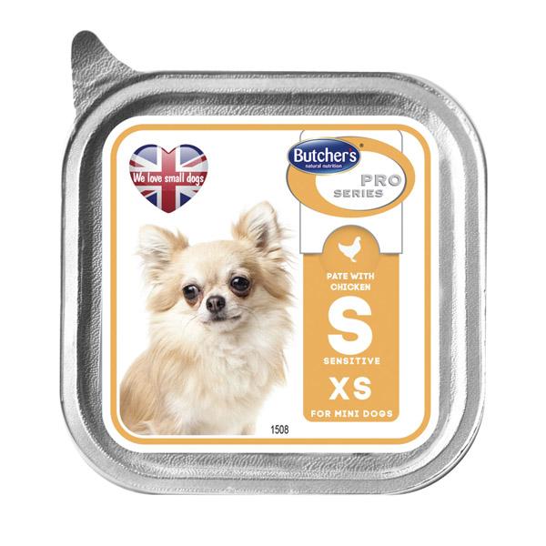 Butcher's Pro series S with chicken pate - пастет с пилешко месо, за малки кучета до 5 кг. 100 гр.