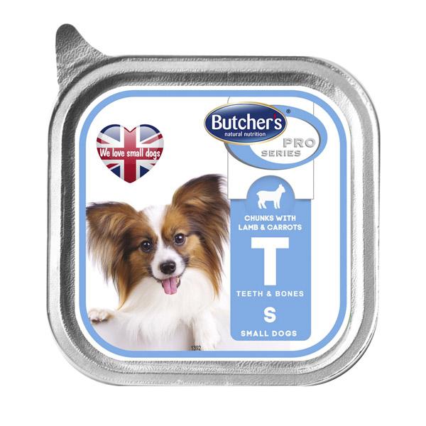 Butcher's Pro series Т with lamb and carrots - пастет с агнешко месо и моркови, за малки кучета до 10 кг. 150 гр.