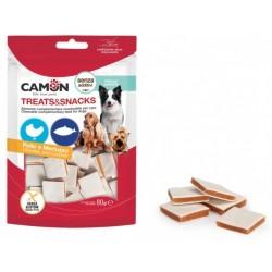 Лакомство за куче Меки хапки във формата на сандвич с пилешко месо и риба Dog Treat Chicken Camon