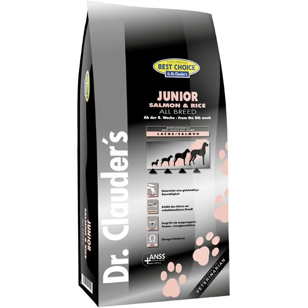 Dr. Clauder's Best Choice Super Premium Mini Salmon & Rice Junior - суха храна за подрастващи кучета от дребни породи със сьомга и ориз