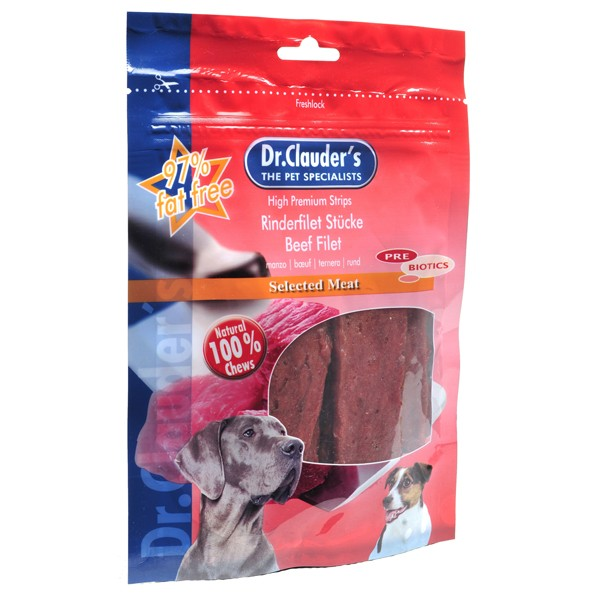 Dr. Clauder's Filet of beef - филе с говеждо месо 80 гр/pre biotik/