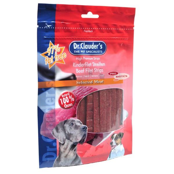 Dr. Clauder's Filet Strips soft strips of beef - меки ленти с говеждо месо 80 гр/pre biotik/