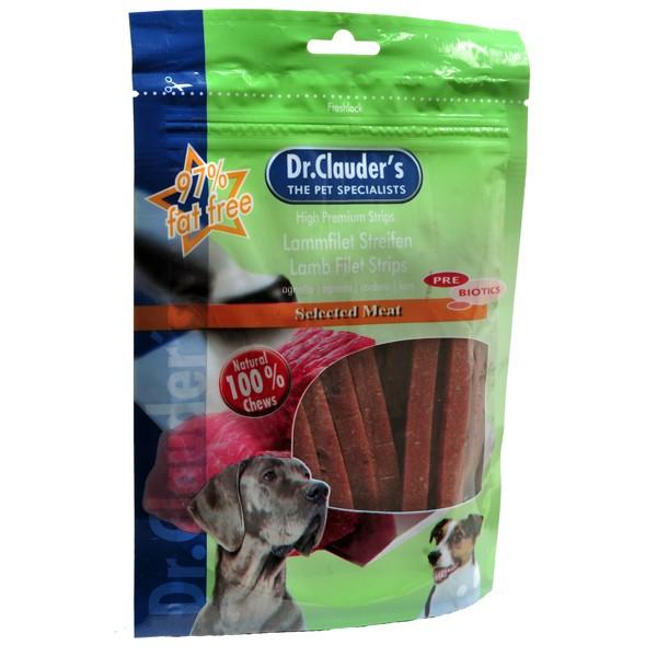 Dr. Clauder's Filet Strips soft with lamb meat - меки ленти с aгнешко месо 80 гр/pre biotik/
