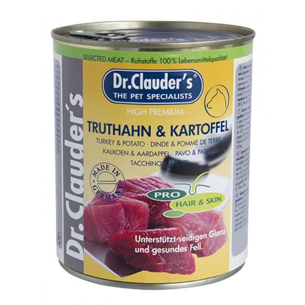 Dr. Clauder's Selected Meat Pro Hair Skin turkey and potatoes - пуешко и картофи за кученца с проблемна кожа и козина