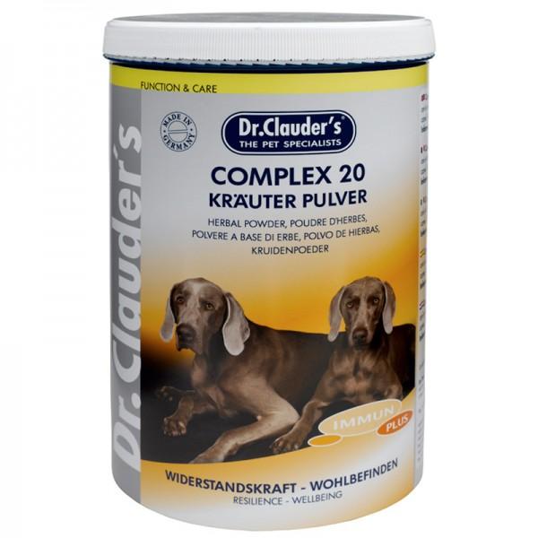 Хранителна добавка за кучета Complex 20 - Krauter Pulver - Комплекс от 20 билки на прах Dr. Clauder's Food supplement for immune system