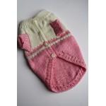 Плетена Дрешка - Ръчно Изработена Розово-бяла