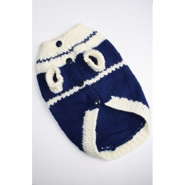 Плетена Дрешка - Ръчно Изработена Синьо-бяла