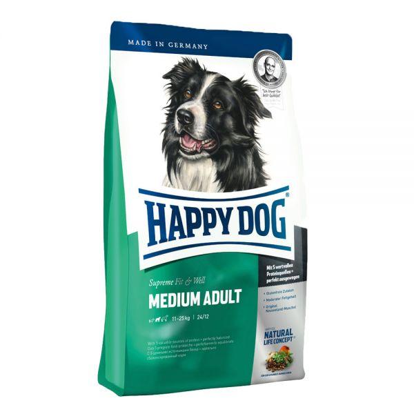 Happy Dog Adult Medium Хепи Дог Адълт Медиум за Възрастни над 1 год. от Средни Породи
