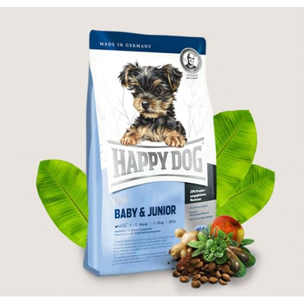 Happy Dog Mini Baby + Junior Хепи Дог Мини Бейби + Джуниър за Кучета от Дребни Породи под 1 година