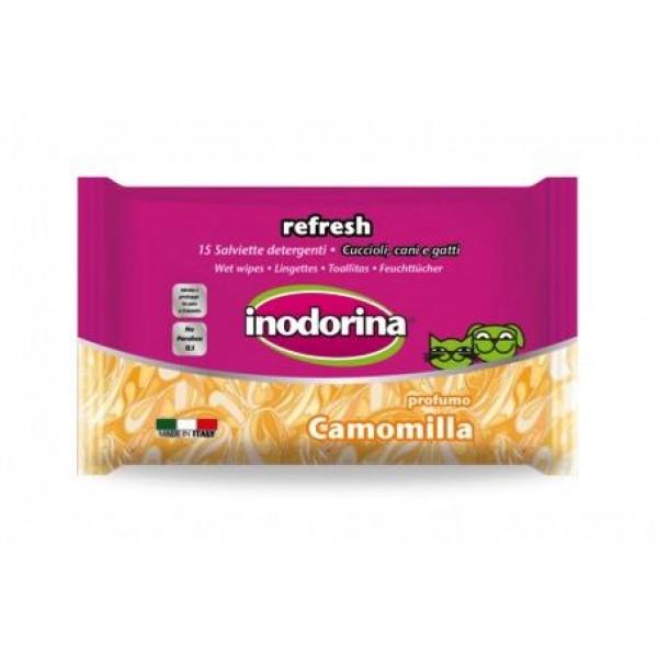 Inodorina Refresh Camomille - Инодорина Мокри Кърпички за Куче с  Лайка, за очи и уши