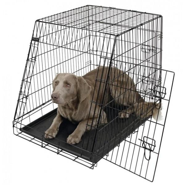 Kerbl Dog Cage - Метална, Скосена, Сгъваема Клетка за Куче