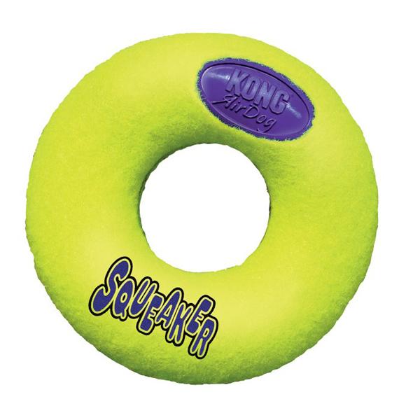 KONG Air Squeaker Donut - кучешка играчка донът