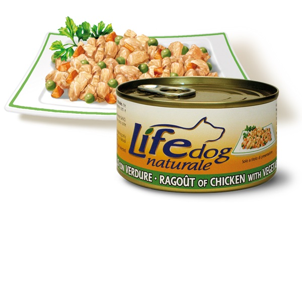 Life Natural Lifedog Ragout of Chicken with Vegetables - пилешко месо и зеленчуци 170 грама