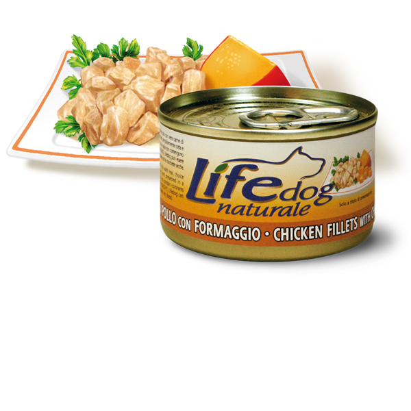 Life Natural Lifedog Chicken Fillets with Cheese - с пилешки филенца и сирене 90 грама
