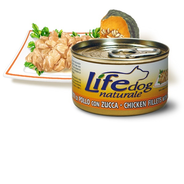 Life Natural Lifedog chicken fillets with pumpkin - пилешки филенца с тиква 90 грама