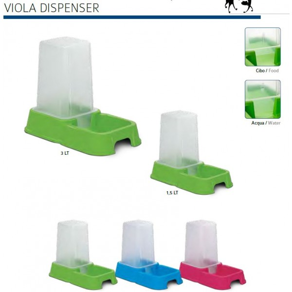 M.P.Bergamo Viola - диспенсър за храна или вода