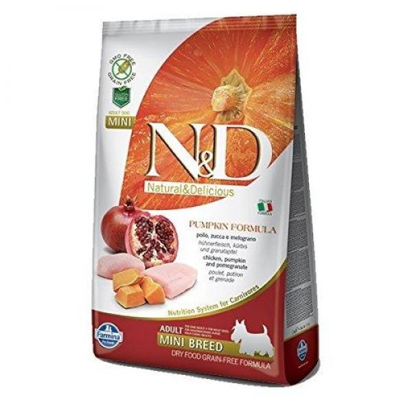 Храна за кучета N&D ADULT MINI PUMPKIN Мини породи израснали кучета тиква с пилешко и нар
