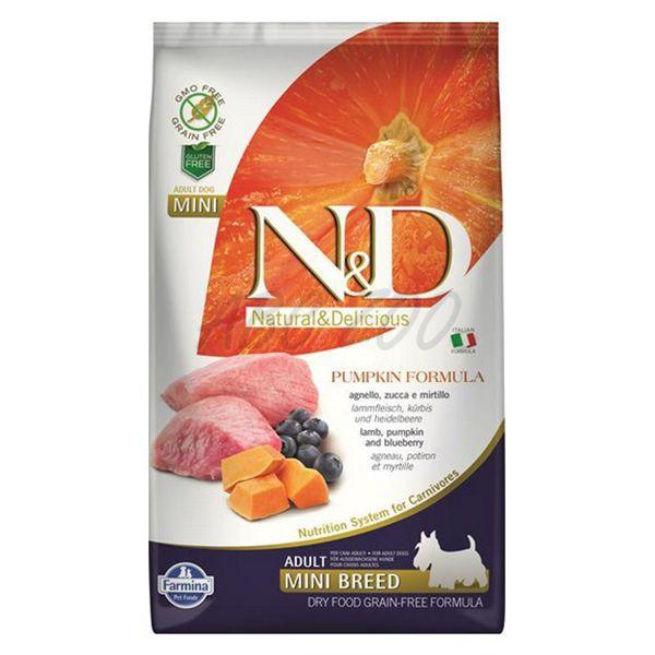 Храна за кучета N&D ADULT MINI PUMPKIN Мини породи кучета тиква с агнешко и боровинки
