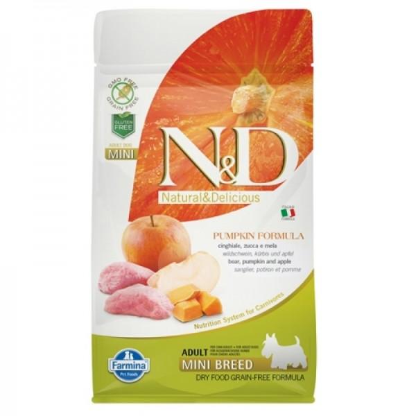 Храна за кучета N&D ADULT MINI PUMPKIN Мини породи кучета тиква с глиганско и ябълка