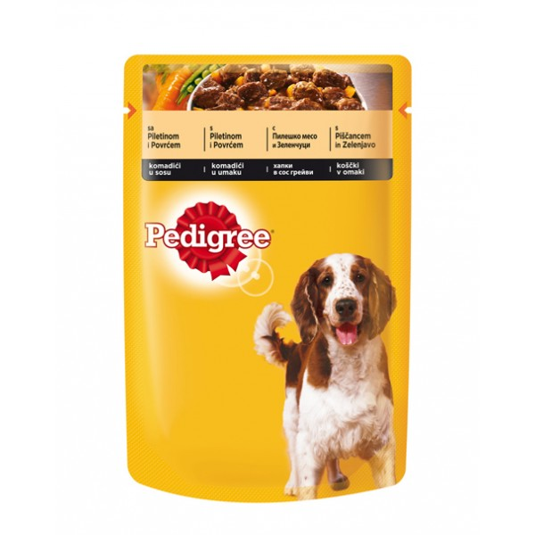 Pedigree Pouch chicken - с пиле
