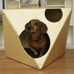 Wooden Place Modern Dog House Стилна Дървена Къщичка за Куче