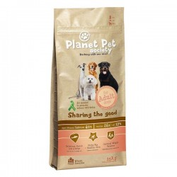 Храна за куче Planet Pet Society Salmon & Potato - пълноценна храна със сьомга и картофи - за всички породи кучета над 1 год.