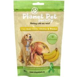 Planet Pet 2 in 1 Meaty Snacks Chicken & Banana - деликатесно лакомство с пилешко месо и банани 70 гр.
