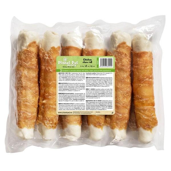 Planet Pet Chicken chew roll - Деликатесно лакомство от телешка кожа и пилешко месо