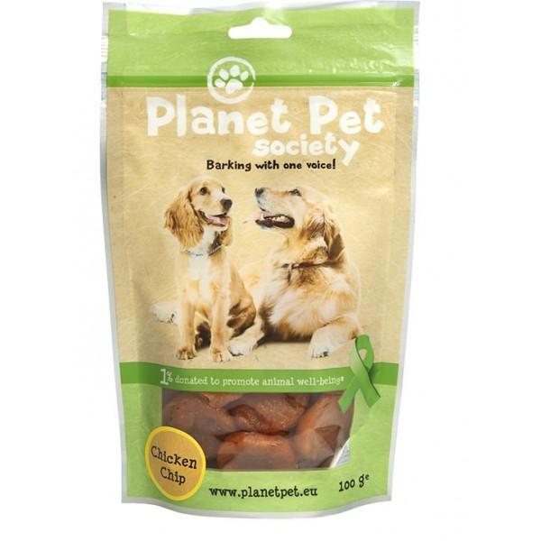 Planet Pet Chicken Chips - пилешки чипс от прясно месо 100 грама