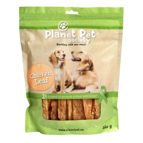 Planet Pet Chicken Leaf - пилешки гърди от прясно месо 160 гр.