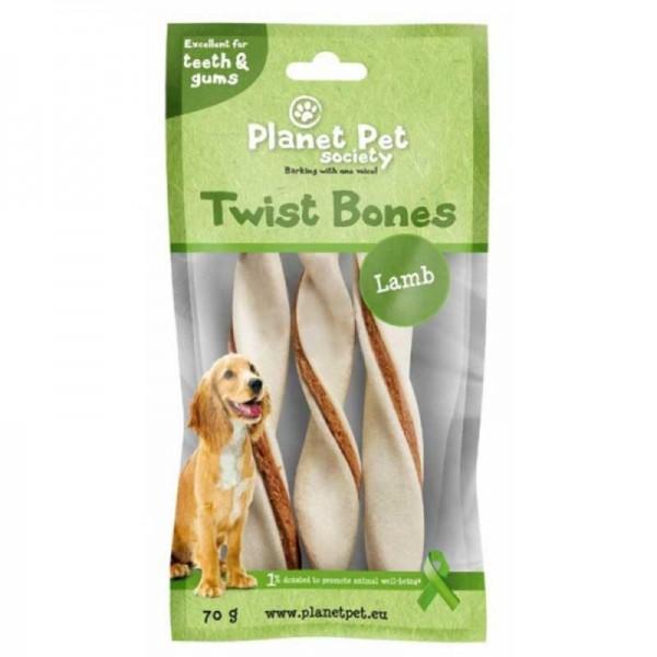 Planet Pet Lamb Twist Bone - Дентално Лакомство за Куче с Агнешко Месо